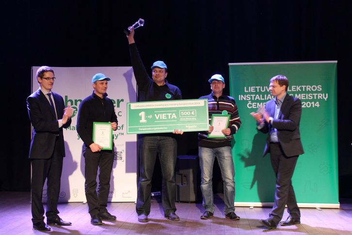 The title of the Lithuanian electricity expert champion won in 2014